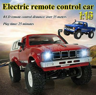 WPL C-24K 1/16 2.4G 4WD RC Off-road Crawler Pick-up Truck KIT Blau Rot Auto X2L1