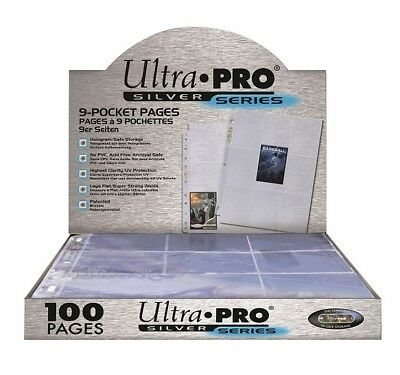 Ultra Pro Silver Series. 9-Pocket Pages. 100 Seiten. OVP!