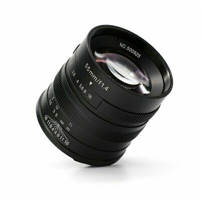 7artisans 55mm/F1.4 APS-C Manual Fixed Lens for Fuji X Mount Cameras with gift