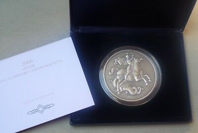 2006 George And The Dragon  999 Silver Proof Coin 5 Oz  Cased & Cert