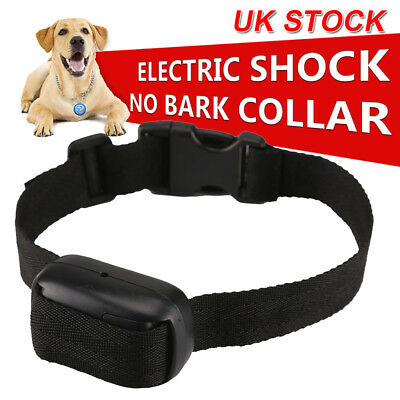 Electric Shock Anti-Bark E-Collar Dog Stop Barking Training Control Trainer UK