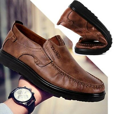 Fashion Men's Summer Suede Leather Shoes Antiskid Loafers Moccasins Breathable