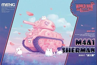 Meng World War Toons Pinky M4A1 Sherman Q Edition Plastic Kit #WWP002