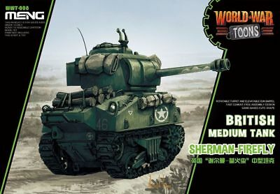 Meng World War Toons - British Sherman Firefly Q Edition Plastic Kit #WWT008