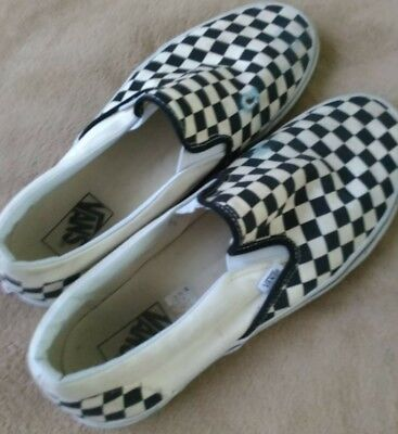 e374205465c0fb VANS Black And White Checkered Slip On Sneaker Skater Shoes Mens US 4.5  Unisex