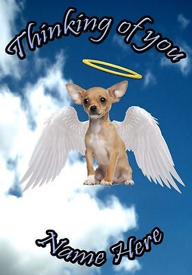 Chihuahua Dog Personalised Card Sympathy Thinking Of You A5 Codehd