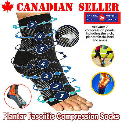 Best Sleeve Compression 1 Pair Unisex Plantar Fasciitis Foot Pain Ankle Socks