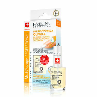 EVELINE Cuticles and Nails Multi-Nourishing Oil With Avocado Oil and Vitamins