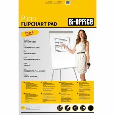 A1 Plain Presentation Flipchart Paper Pad Perforated 40 Sheets Easel Use