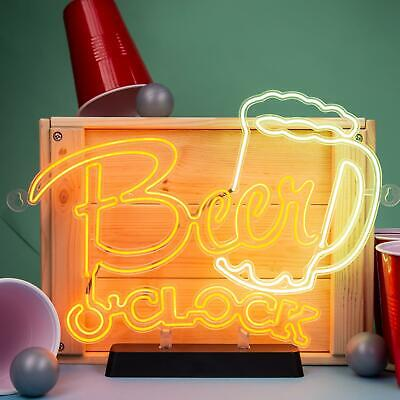 Beer O'clock Neon Effect Sign Light Electro Luminescent Sign