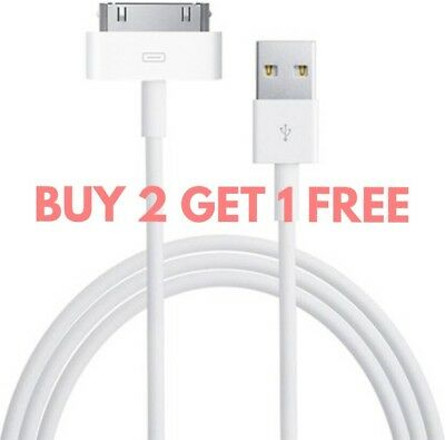 Genuine Charging Cable Charger Lead for Apple iPhone 4,4S,3GS,iPod,iPad2&1