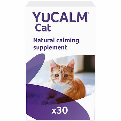 Lintbells YuCALM For Cats 30 Calming Sprinkle Capsules Stress Anxiety Relief