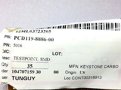 5016 Keystone Test Point Pc Compact Smt 35 Pieces