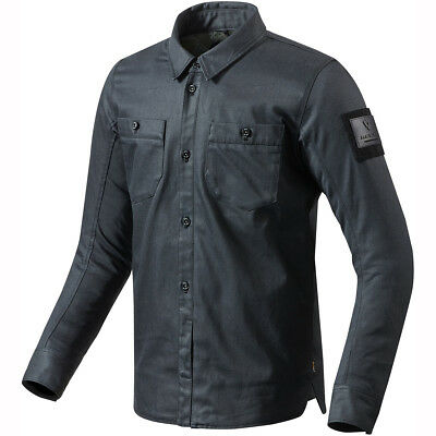 Rev It! Tracer Armoured Overshirt - Denim Blue