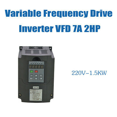 7A 2HP 1.5KW 220V VFD VARIABLE FREQUENCY DRIVE INVERTER Frequenzumrichter TOP