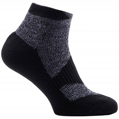 SealSkinz Thin Short Length Socks WP - Black Grey