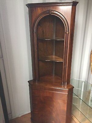 dark wood corner antique style display unit cabinet COLLECTION ONLY