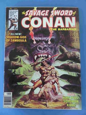 Savage Sword Of Conan 14 1976 Fresh Glossy! Vf/+ Scarce!