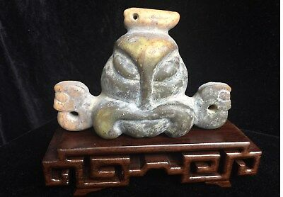 SALE: 50% OFF  Chinese Neolithic Archaic Jade-Hongshan face Mythological Symbols