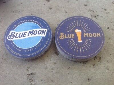 "Blue Moon Bar Coasters. You Receive ""20"" Coasters Free Shipping"
