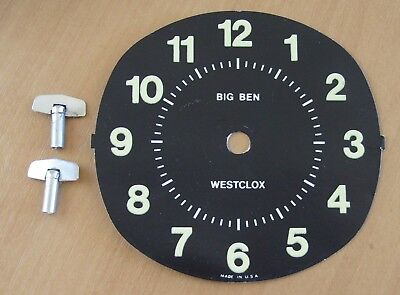 2x Big Ben Clock Keys and a Big Ben Face Vintage Clock Parts. Free Postage