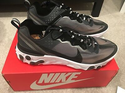 f4f30c23e07c Nike React Element 87 Anthracite Black Size US Men s 8 AQ1090-001 IN HANDS
