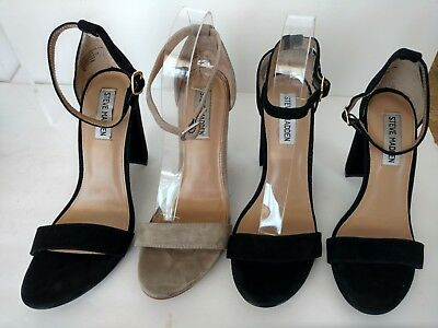 a6c6b22e26c STEVE MADDEN SUEDE Carrson Ankle Strap Block Heeled Sandals -  26.50 ...