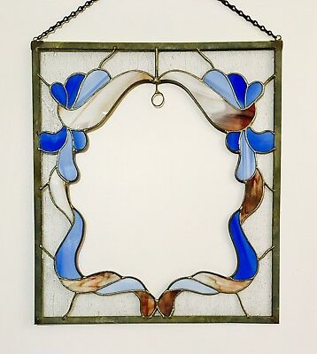 VINTAGE HANGING STAINED Glass Lead Window Frame - $29.95 | PicClick