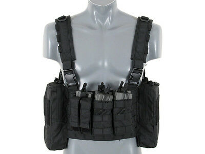 PATROL Chest Rigg, schwarz Airsoft Softair Weste Carrier Vest