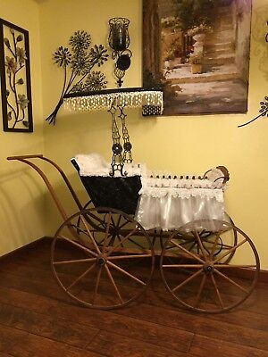 1870's Antique Baby Carriage Wood & Metal in Alabama / Free S.E. Delivery