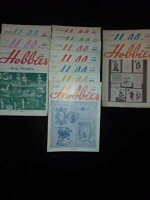 Hobbies, The Magazine for Collectors, Lot of 12 Magazines 1969 - 1971