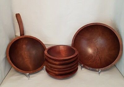 Vintage Baribocraft Canada - Wood Salad/Entertaining Set (8 Pieces)