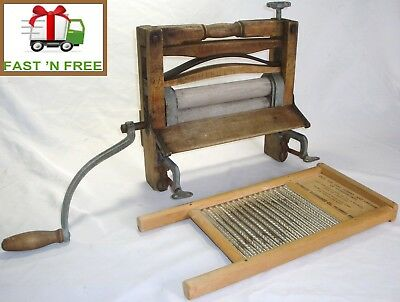 Antique L.M. Co.  Anchor Brand Wringer & DUBL-HANDI Washboard - $0 Fast Shipping
