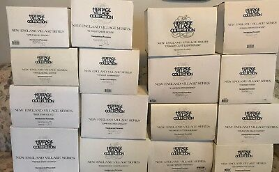 Dept 56- Lot Of 16 Heritage Village Collection - New England Village Serie
