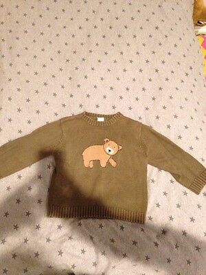 Gymboree 2T army Green toddler boys Sweater back to preschool FALL everyday play