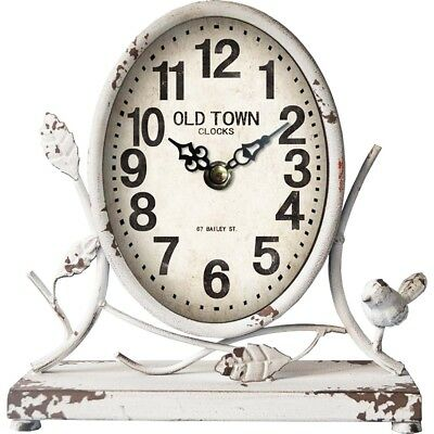 Clock French Country Vintage Freestanding White Old Town Clock New