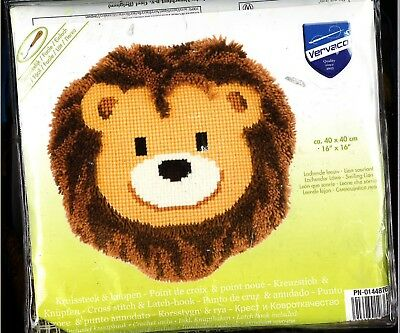 Vervaco Latch Hook Rug Hook Cross Stitch Lion Kit
