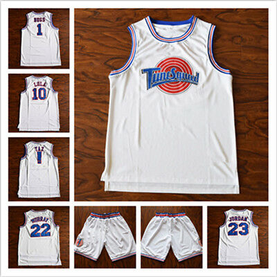 3ed47ec901d Space Jam Tune Squad Basketball Jersey White Stitched Jerseys Shorts S-3XL