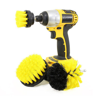 3Pcs/Set Tile Power Scrubber For Bathroom Kitchen Cleaning Drill Brush Combo WR4