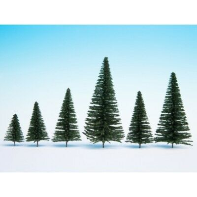 NOCH - 26930 Fir Trees with Planting Pin, 10 pieces,5 14 cm high H0,TT