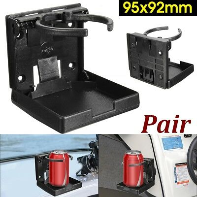 2Pcs Folding Drink Cup Holder Beverage Bottle Stand Mount For Truck/Car/4x4/RV