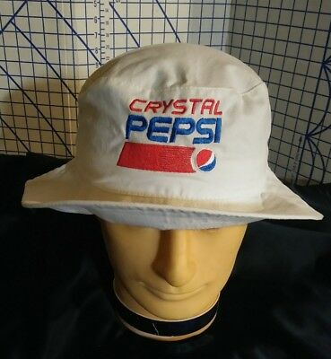 Crystal Pepsi BUCKET HAT White EUC Collectible  Throwback Gear 2017 Cap