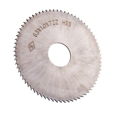 "2.5"" Diameter 72T HSS Steel Round Slitting Saw Cutter P1C1"