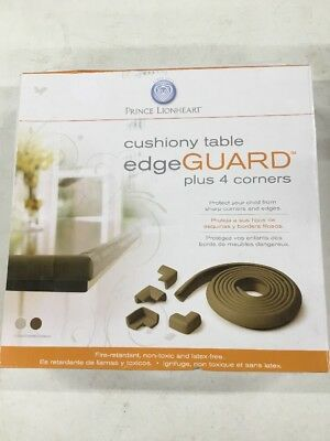 Prince Lionheart Table Edge Guard with 4 Corners, Chocolate Brown  (open Box)