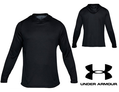 UA Under Armour Men's French Terry Fitted Hoodie Sizes: S, M Black