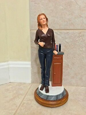 Country Hair Designer Lady Carved wood Sculpture