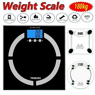 7 In 1 180Kg 400Lb Bathroom Weighing Body Bmi Fat Weight Electronic Home Scales