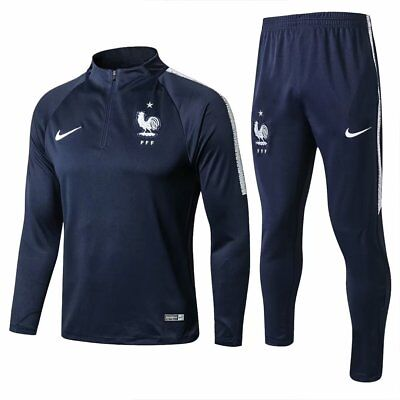 France Mens Royalblue Running Training Sports Jersey Jacket Tracksuit Suit  Set