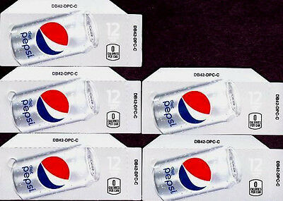 Diet Pepsi 5 Small 12 oz Can Soda Vending Machine Calories Flavor Labels