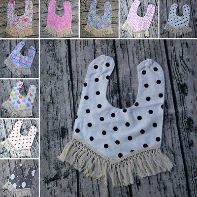 Head Scarf New Bibs Dribble Bandana Girls Tassel Triangle Towel Baby Saliva